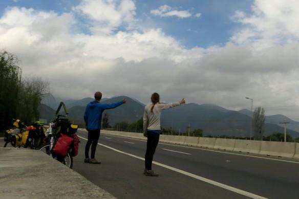 Hitchhiking...